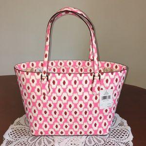 Kate Spade ♠️ | pink printed tote
